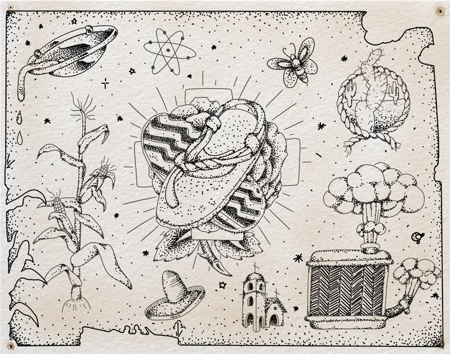 """Flash sheet, """"The Highway,"""" by Steven Mast, inspired by the Ray Bradbury short story of the same name."""