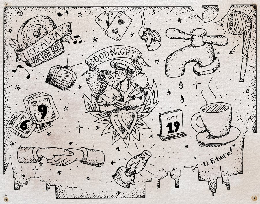 """Flash sheet, """"The Last Night of the World"""" by Steven Mast, inspired by the Ray Bradbury short story of the same name."""