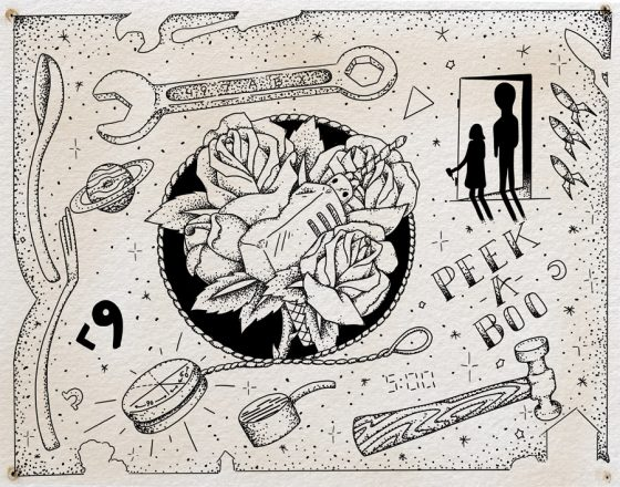 "Flash sheet, ""Zero Hour"" by Steven Mast, inspired by the Ray Bradbury short story of the same name."
