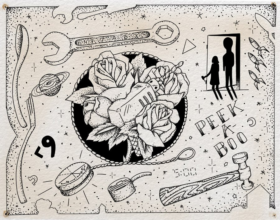 "Flash sheet, ""Zero Hour"" by Steven Mast, inspired by the Ray Bradbury short story of the same name event"