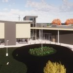 Rendering of new campus plan for DePaul Cristo Rey High School