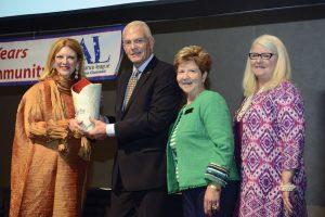 Honoree Heidi Jark, Ron Stahl, member Jan Stahl and president Nancy Purcell