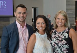 Sheridan Murphy, Samantha Naber, and Nikki Leisgang, board president