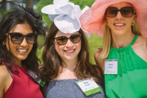 Luncheon volunteer Sapna Gupta, YP Committee co-chair Meg Cooper and Laura Richter