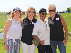 Huntington Bank team: Ellie Houston, Angie Gates, Shelia Simmons and Michelle Stoffer