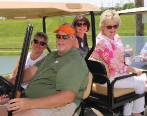 Event chair Michelle Sullivan with Tim Stevenson (coach), Terri Jamison and Deb Buden