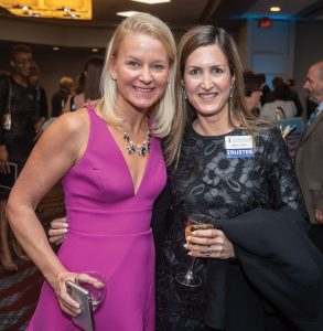 Gala chair Chrissie Blatt with board member Allison Kahn