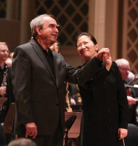 Robert Porco, director of May Festival choruses, with Eun Sun Kim