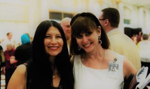 Lourdes Ribera, president of the League of United Latin American Citizens Cincinnati, with Diana Maria Lara, director of communications for Cincinnati Symphony Orchestra