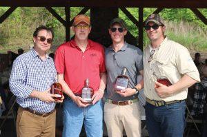Second-place Hansen Scaffolding team: the Rev.George Sherrill Jr., Steve Shipp, Aaron Hansen and Burke Byer