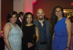 Gina Goings; Alicia Bond Lewis; Dr. Chris Lewis, foundation Medical Advisory Board member; and Alena O'Donnell