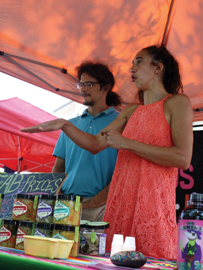 Hyde Park Farmers' Market - Jordan Aversman and Jennifer De Marco of FAB Ferments (Lockland) are on a mission: to spread the word about the numerous health benefits of naturally fermented foods, such as kimchi, pickles, sauerkraut and kombucha.