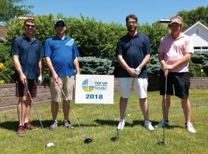 Tender Mercies Golf Josh Ritter, Jody Zajac, Sean Archibald and Mike Stewart of Softpak