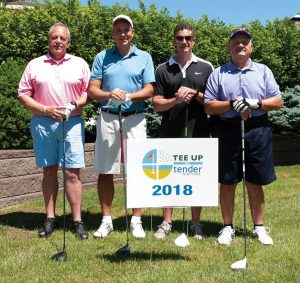 Tender Mercies Golf Brian Faulkner, Gary Faulkner, Allen Goss and Greg Logsdon of S.P.A. Inc.