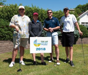 Tender Mercies Golf Andrew Thielman, Sarah Lacovone, Dan Scroggins, Kenneth Brosnan of AAA