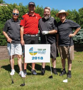 Tender Mercies Golf Mark Baumann, Stewart Turnbull, Mike Dittman and Steve Brandstetter of Turnball-Wahlert Construction