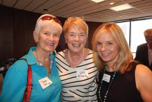 GCF Women of the Year Past honorees Susan Tew (1997) and Les McNeil (1996) with Ellen M. Katz, GCF president and CEO