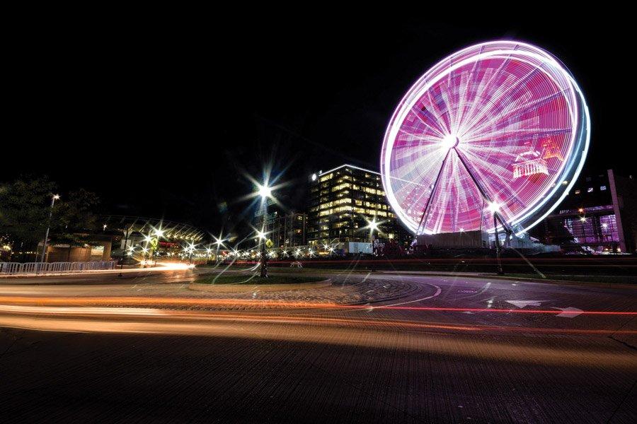 SkyStar Ferris wheel is 150 feet tall and has 1 million LED bulbs.