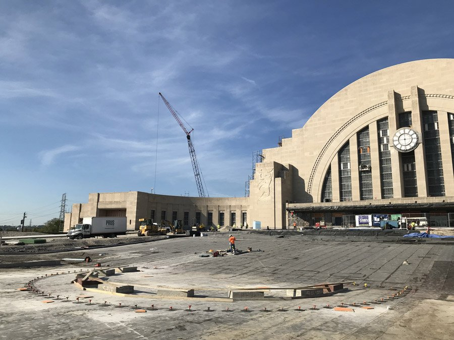Preparations for fountain concrete pour