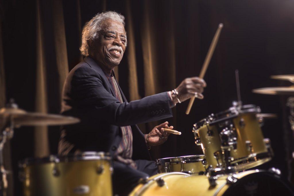 Cincinnati King: Philip Paul, legendary King Records session drummer. photo by Tony Arrasmith:Arrasmith & Associates
