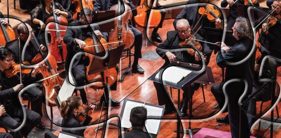 Music Director Louis Langrée conducting the Cincinnati Symphony Orchestra