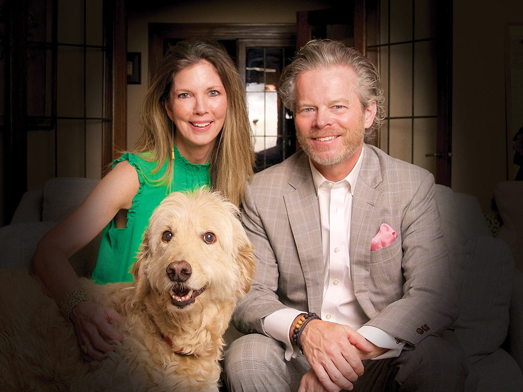 Michelle And Kevin Jones With Their Dog Crosley Photo By Tina Gutierrez